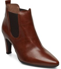 m-4206 shoes boots ankle boots ankle boot - heel brun wonders