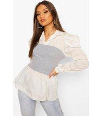 bandeau 2 in 1 shirt, grey