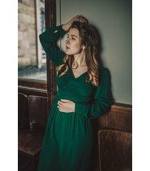 sukienka retro w butelkowej zieleni