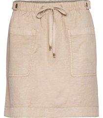 skirts light woven kort kjol brun edc by esprit
