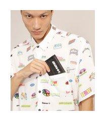 carteira masculina com estampa refletiva baw clothing preta