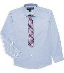 little boy's & boy's two piece sport shirt & tie set