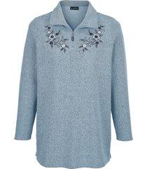 sweatshirt m. collection lichtblauw
