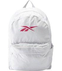 maleta training reebok linear logo - blanco-rojo