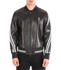 men's leather outerwear jacket blouson rap-nox slim