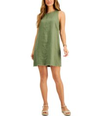 charter club petite sleeveless fringe-hem dress, created for macy's