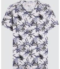 camiseta para hombre hojas color blanco, talla l