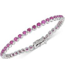 ruby tennis bracelet (6 ct. t.w.) in sterling silver