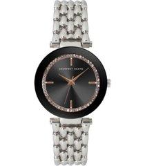 geoffrey beene women's silver-tone metal alloy bracelet watch, 32 mm