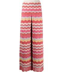 zig-zag pants in multicolor lurex m missoni