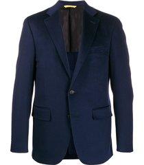 canali pocket-square suit jacket - blue