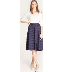 falda cinturón a tono azul 4