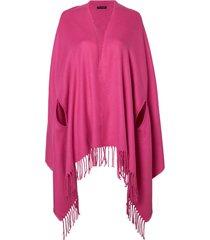poncho le lis blanc fatima dhalia tricot rosa feminino (dhalia, un)