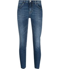 haikure low-rise cropped jeans