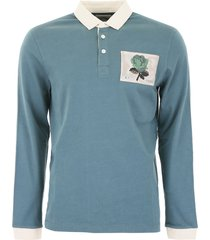 kent & curwen polo shirt with rose patch