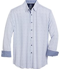 con. struct blue floral four-way stretch slim fit sport shirt