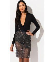 akira deep breath diamond net mini skirt