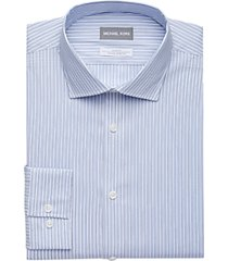 michael kors blue multi-stripe slim fit dress shirt
