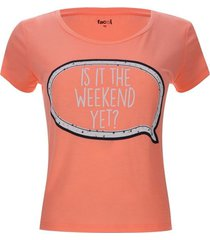 camiseta descanso is it the weekend yet color rosado, talla m