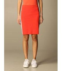 armani exchange skirt armani exchange pencil skirt with lurex bands