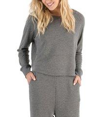 women's honeydew intimates sneak peak sleep shirt, size x-small - grey