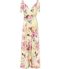abito lungo a fiori (giallo) - bodyflirt boutique