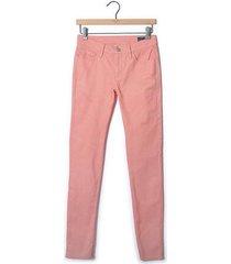 pantalón puntos cinco bolsillos para mujer - rosado