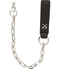 gmbh faux-leather logo key chain strap - brown