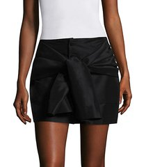 sleeve-tie mini skirt