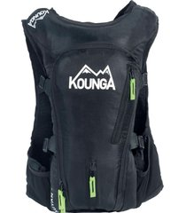 mochila outdoor impermeable auyan 15 litros ultra trail negra kounga