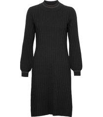 jaqueline knit dress knälång klänning svart morris lady