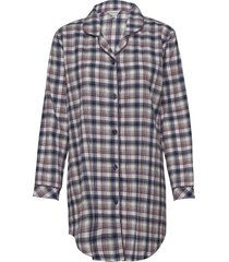 cotton flannel nightshirt pyjamas blå lady avenue