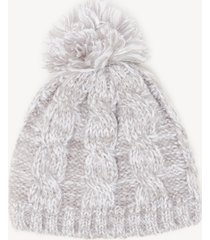 women's cable knit beanie hat light grey one size from sole society