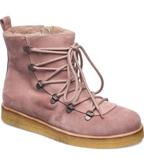 boots - flat - with laces shoes boots ankle boots ankle boot - flat rosa angulus