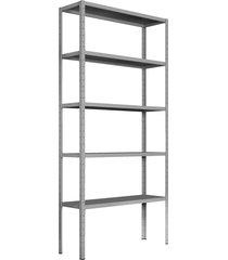 estante de aço bariloche 5 bandejas 1,98x95x30  fabone móveis tubulares
