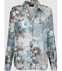 blouse paola mint::turquoise::ecru