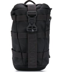 moncler single shoulder strap backpack - black