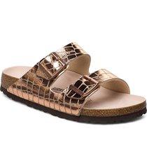 arizona shoes summer shoes flat sandals guld birkenstock