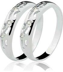 anel aparador de prata 925 com 06 pedras de zircônia natália joias