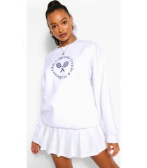 oversized beverly hills tennis sweater, wit