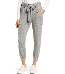 women's gibsonlook cozy belted joggers, size x-small - grey