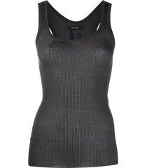 isabel marant scoop neck silk vest top - grey