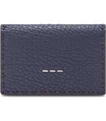 fendi business card holder - blue