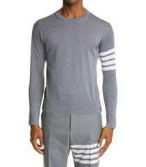men's thom browne merino wool pullover, size 4 - grey