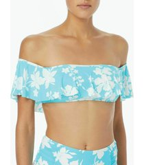 bikini top floral vine ruffle bandeau