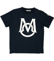 cotton t-shirt with logo blue