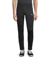 puma men's speed camo-side panel track pants - black - size xl