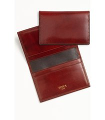 men's bosca calling card case - brown