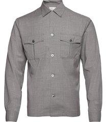 henrik reg shirt overhemd casual grijs oscar jacobson