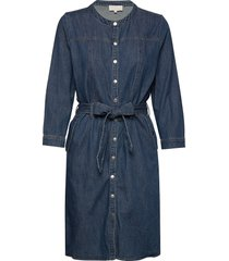 larina denim dress jurk knielengte blauw minus